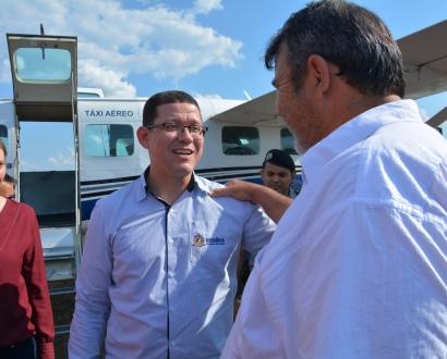 Album:Prefeito Conélio Duarte acompanha a visita do Governador  Marcos Rocha em São Francisco do Guaporé